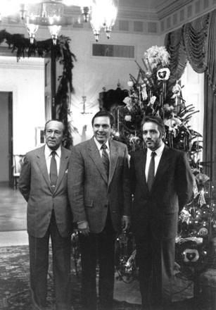 Governor Martinez with Spanish guests, 1987