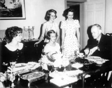 Governor & Mrs. Bryant with daughters, ca. 1961