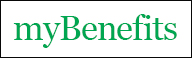 A button of the myBenefits logo on a white background.