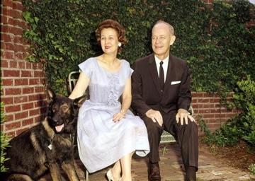 Governor & Mrs. Bryant with family pet, ca.1962