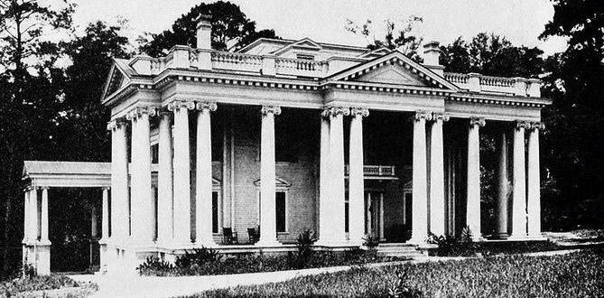 Original mansion built in 1907, pictured above in 1912.